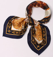 soft hand stock Satin Square Digital Print Silk Scarf made in China