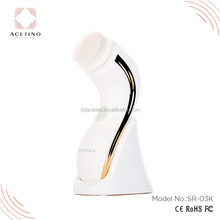 Gold Plating Luxury Rotary Electric Facial Cleaning Brush