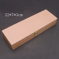 Natural Wood Material Square Gift Box Beech Wood Jewelry Present Box
