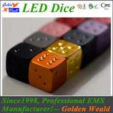 2017 china wholesale plastic colorful game dice