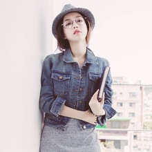 hot sale korean cheap wholesale denim jackets suppliers new style womens fancy denim jackets