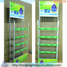 5-layers Metal free standing folding wire shelf HL073G