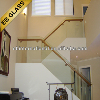 CE / AS Standard frameless tempered glass balcony railing