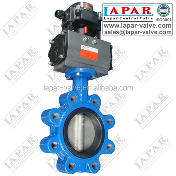Pneumatic Control Butterfly Valve LUG Wafer Flange Type