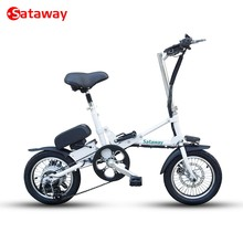 Sataway high quality 14 inches mini folding electric bike with EN15194