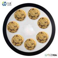 Resuable wholesale round custom logo silicone baking mat set round silicone oven mat, silicone baking sheet