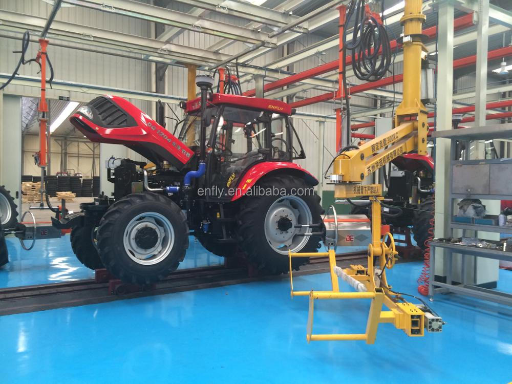 2018 hot sale chinese tractors ENFLY 90hp 4WD with implements