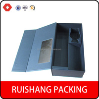 Trade Assurance Supplier Wholesale Fashion paper packaging Wine bottle box/ flip top paper wine box with magnetic catch
