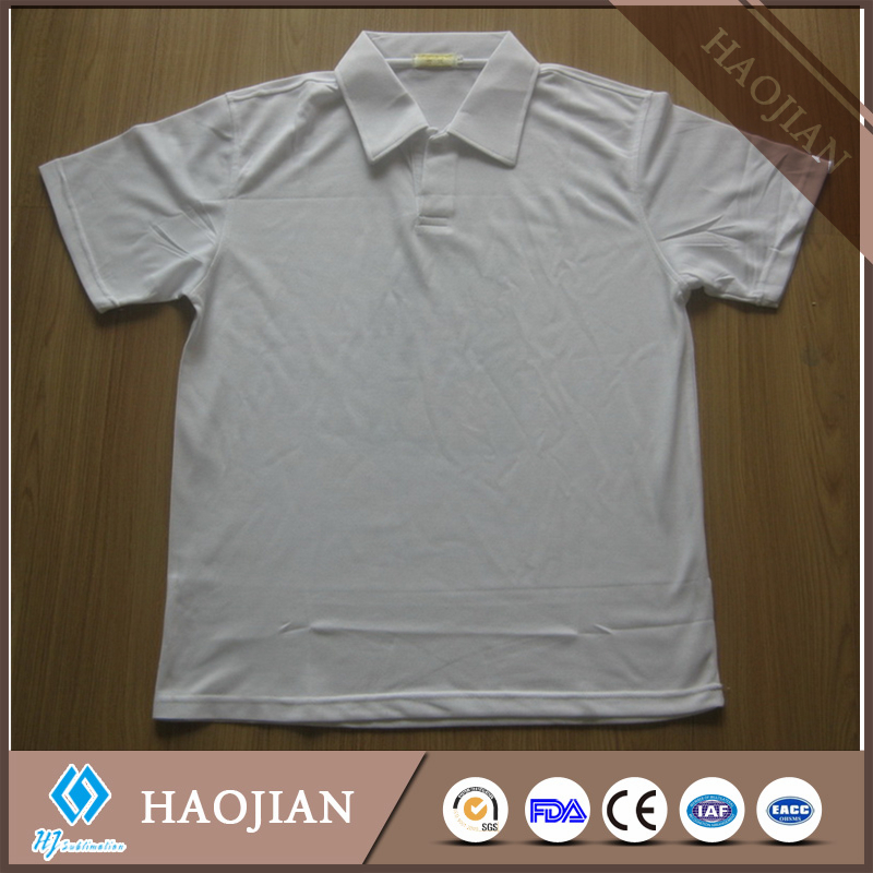 polo T-shirt for sublimation printing blank T-shirt