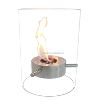 Modern Glass Surrounded Small Bio Ethanol Fireplace