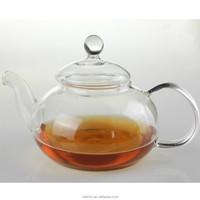 2016 HOT SALES hand made heat resistant borosilicate exotic glass teapot glass tea set