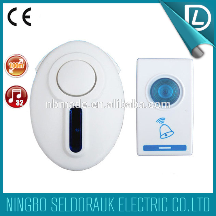 Direct factory supply 32 melodies 315MHZ digital doorbell manufacturers door ring gong door bell