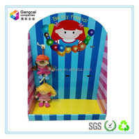 customized paper counter top display stand for toys and dolls