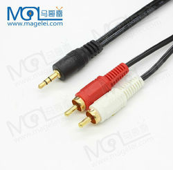 2 in 1 3.5mm audio adapter RCA cable 3m