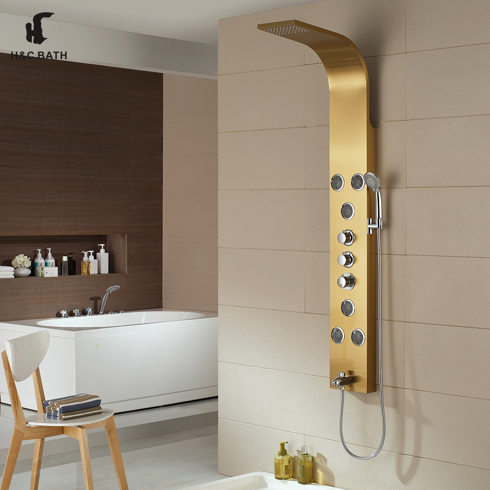 high quality thermostatic function 304 stainless steel shower column