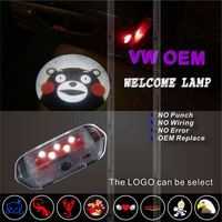 led logo car door shadow projector light car gps syste