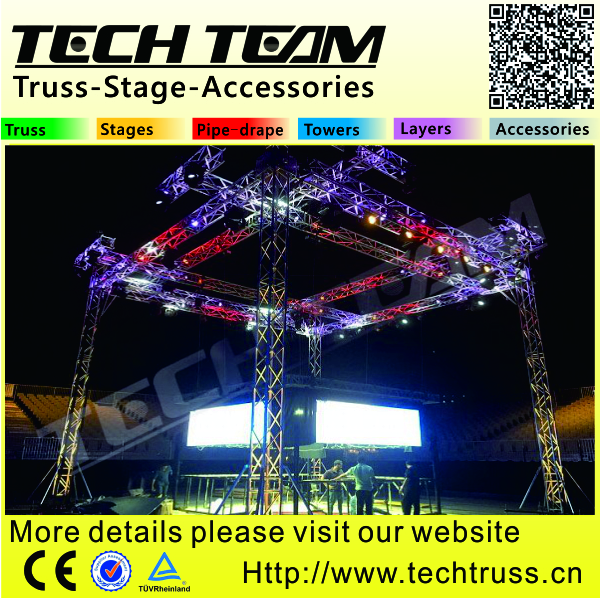 Concert Outdoor Stage Roof Truss Flat Truss Use Roof System Cut Cost