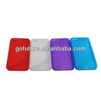 Factory supply,OEM S line clear TPU for iphone5 case