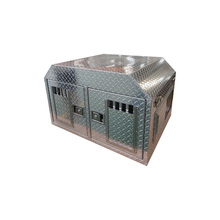 Factory wholesale aluminum diamond plate pet house travel transport dog cage