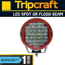 Factory price 12/24V led car light, 9 inch 111W,160W,185W,225W red/black round ip67 led spot/flood work light,led offroad lamp