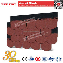 Shingles Roofing Materials Asphalt , Cheap Roofing Fish Scale Tiles with Colored Granules