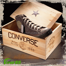 New Design Wooden Shoe Box For Packaging With Lid