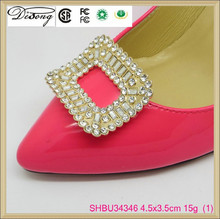 SHBU34346 new arrival zinc alloy nickel plating rhinestone acrylic stone shoe accessory