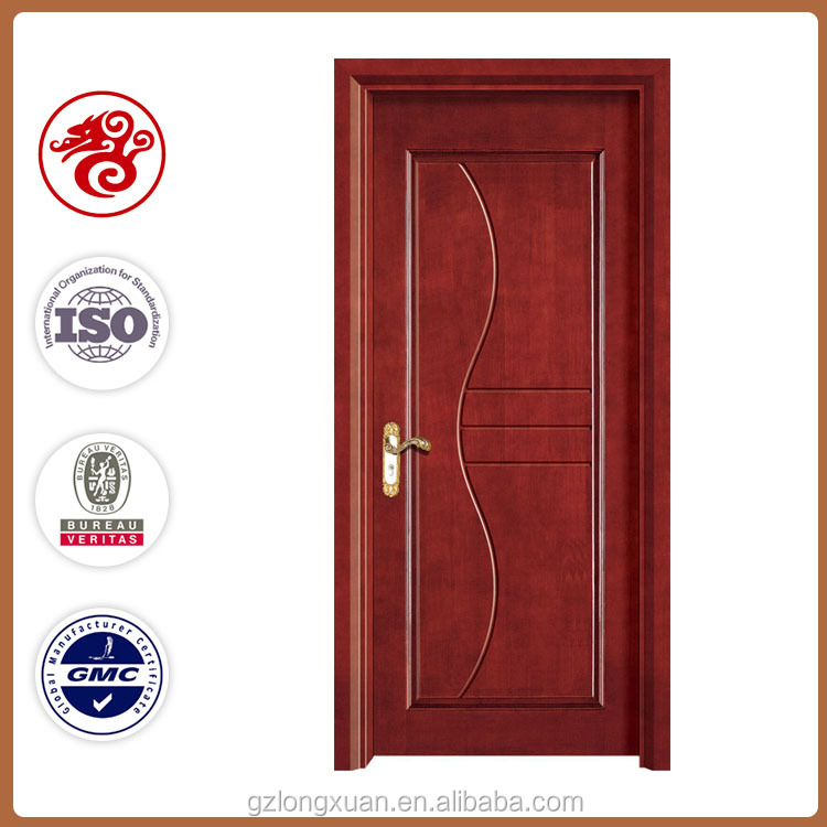 Good finishing solid wood with swing open style fire door from guangzhou