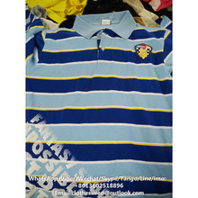 Latest wholesale collar men T-shirt used clothing for sale