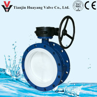PTFE Lined Dn50 Butterfly Flap Valve