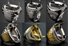 Hot Amazing Best Quality Cheap Wholesale Price Indonesia Gemstone Gold Men's Ring Designs