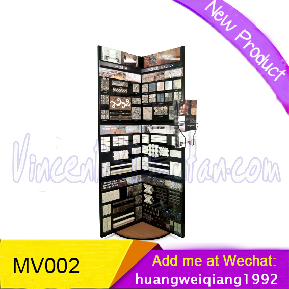 showroom mosaic tile display stand/tsianfan custom mosaic tiles display stands MV002