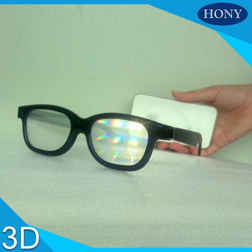PL0001 With Strong 13500 Clear Diffraction Lens Rave Prim Grating Plastic Fireworks Diffraction Glasss