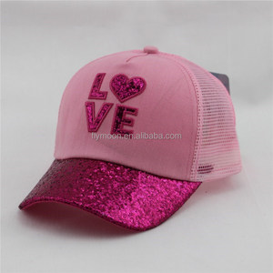 Girls Powder Baseball Child Kids Hat Caps Gold Cap