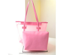 Cheap Leisure Transparent Bag Fashionable Lady PVC Handbag