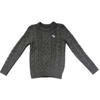 Men Woolen Pullover Casual Jarquard Cable