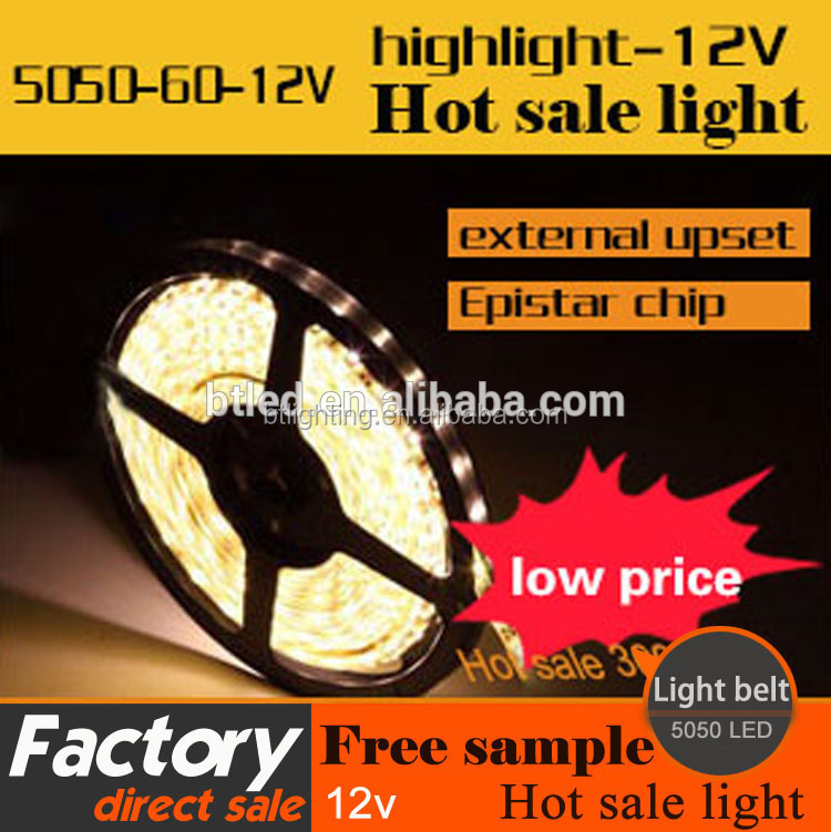 High bright LED flexible strip light 5050 LED ceiling decorative LED light strip multicolor