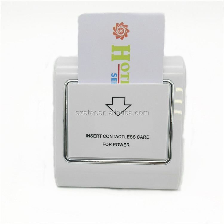 13.56MHZ RFID Card key Energy saving switch Holder for hotel