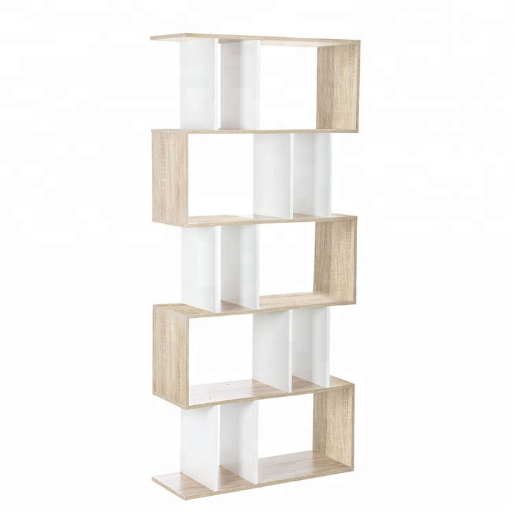 MS High Quality simple wood bookcase 5 TIER Shelf Unit