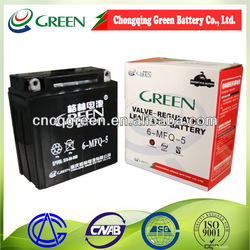 motorcycle battery YB5L-B 12V5Ah