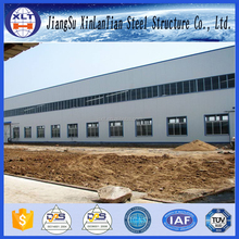 Welded steel structure flat roof prefab factory building