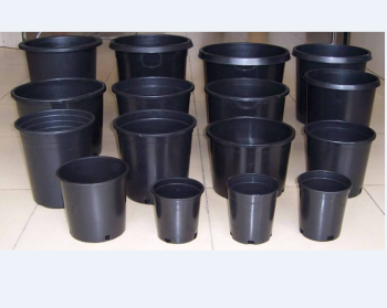 1 -20 gallon black plastic flower pots , tree plant pots,nursery pots plastic