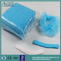 China supplier disposable nonwoven mob cap clip cap hair net