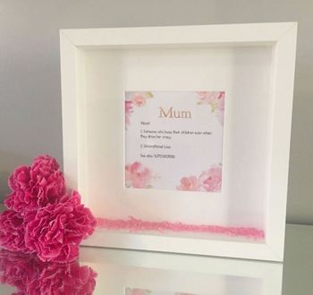 Mother's Day handmade personalised picture frames