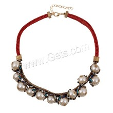 30mm ABS Plastic Pearl Zinc Alloy Iron Chain Necklace