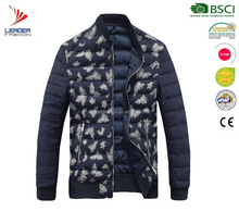 new style hot sell men printed winter down jacket