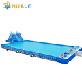 Hot sale attractive inflatable playground water park, customized outdoor inflatable water park for kids and adult