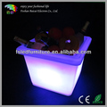 Different size square LED lighted ice bucket