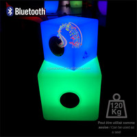 Best Outdoor LED Light Power Bank Speaker Waterproof Bluetooth Stereo Shower Speaker with led light remote control