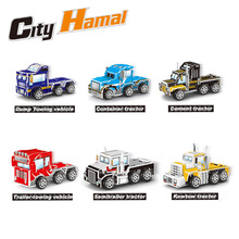 3D puzzle Vehicles model DIY pull back car tank truck airplane fire rescue OEM custom toy
